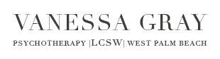 Vanessa Gray, Certified Therapist in west palm beach Logo